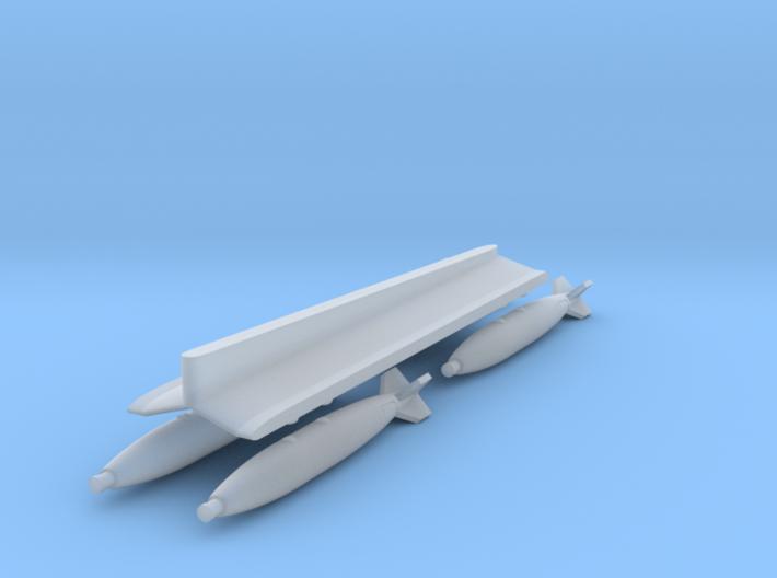 Mirage F1 Centerline MER + 4xMk82 Bombs (1/72) 3d printed