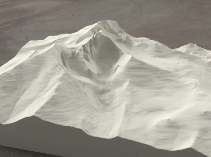 8'' Longs Peak, Colorado, USA, Sandstone 3d printed Radiance rendering