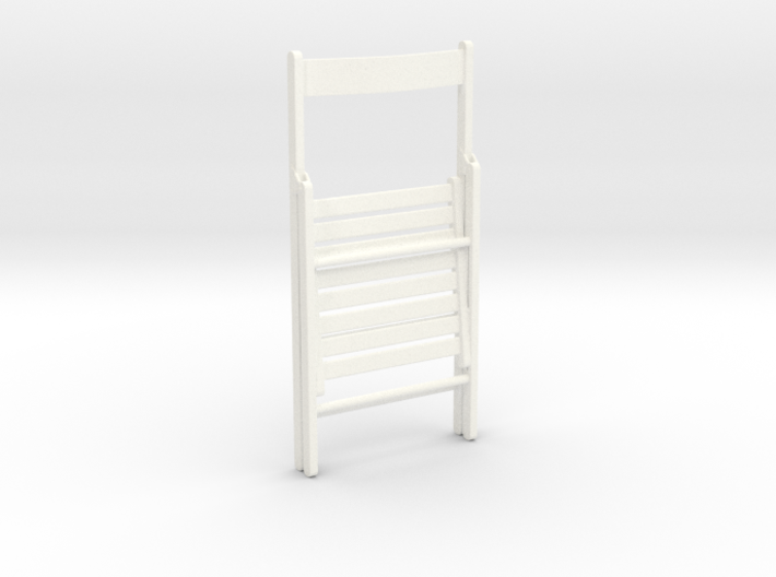 Wooden folding chair, folded, 1:12 3d printed