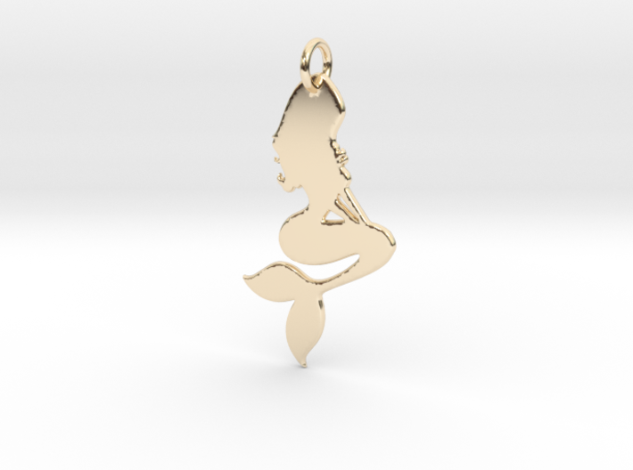 Mermaid Pendant 3d printed