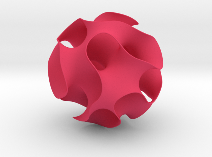 Gyroid, round cut 3d printed