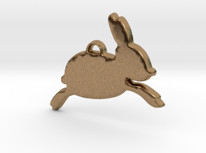 Over the Moon Bunny™ Charm 3d printed