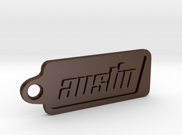 Austin, Texas Keychain 3d printed