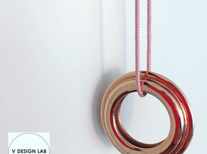 Michelin Pendant 3d printed Pink String not included