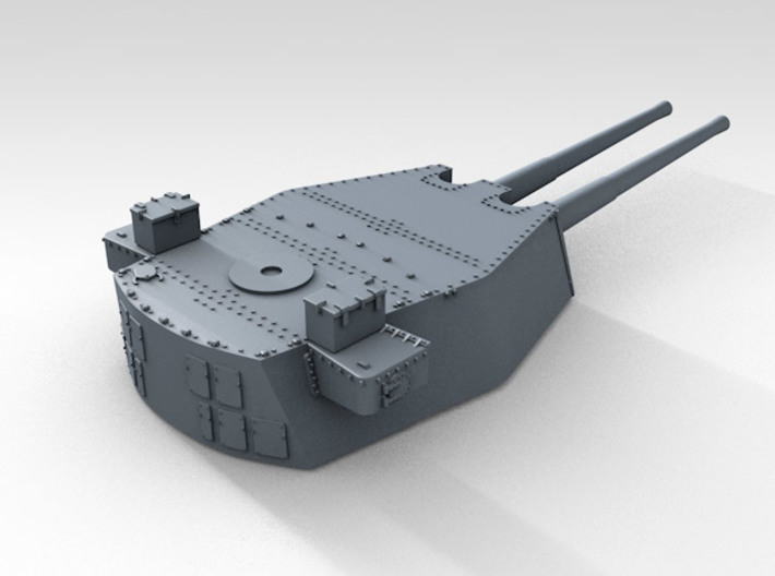"1/700 HMS Duke of York 14"" Turret Set 3d printed 3d render showing product detail (B Turret)"