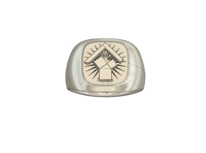 Pennsylvania Past Master's Ring 3d printed
