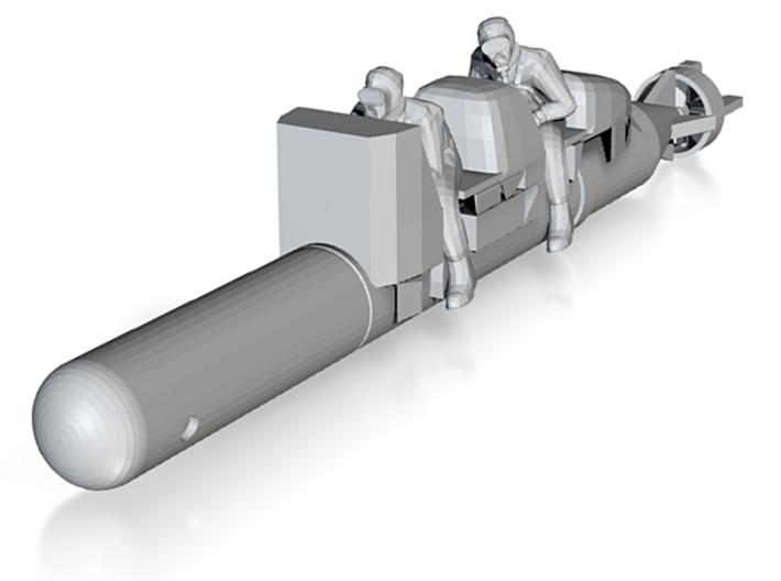 Human torpedo Sub 4 in 3d printed
