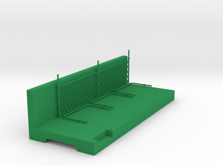 Pit Wall module for Slot Car track 3d printed Pit Wall module