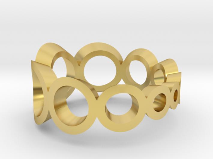 spheres circle ring crescending 3d printed