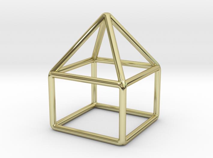 House Pendant 3d printed