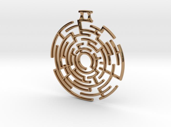 Labyrinthine Pendant 3d printed