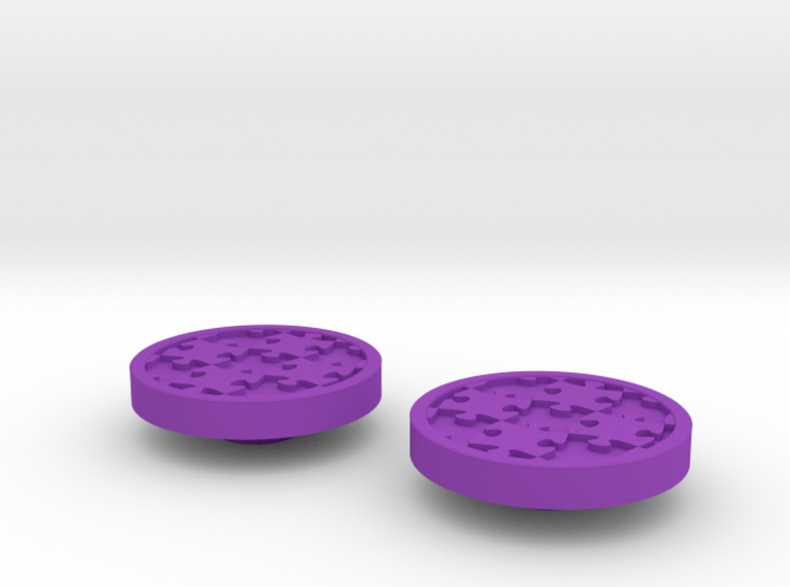 Awareness Puzzle Button 3d printed