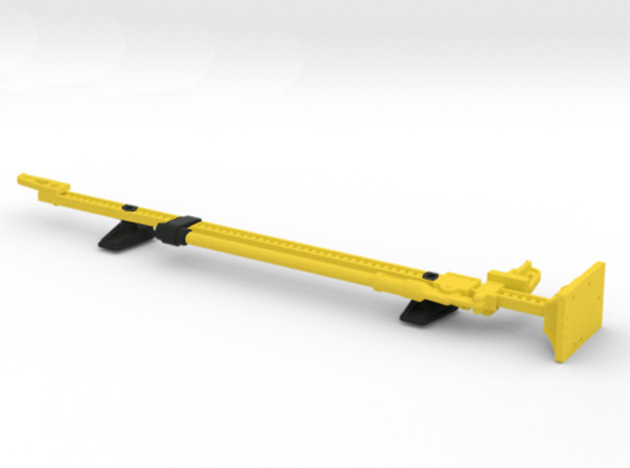 AJ10051 Jack and Hood Mount - YELLOW 3d printed Shown with parts painted in black