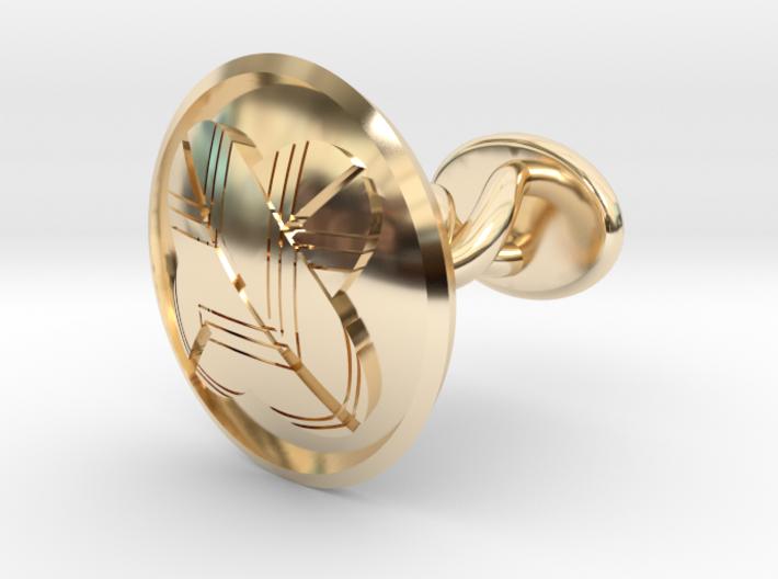 "Japanese Kamon cufflink ""違いの羽紋"" 3d printed"