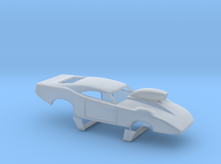1/43 69 Daytona Pro Mod W Vents W Scoop 3d printed