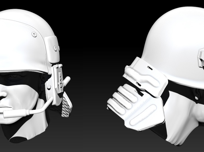 Marine Helmet 1:10 scale 3d printed head not included and just shown for scale