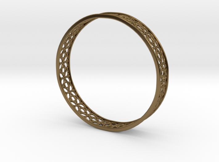 4-Leaf Celtic Knot Gissel 60mm Diameter Bracelet 3d printed