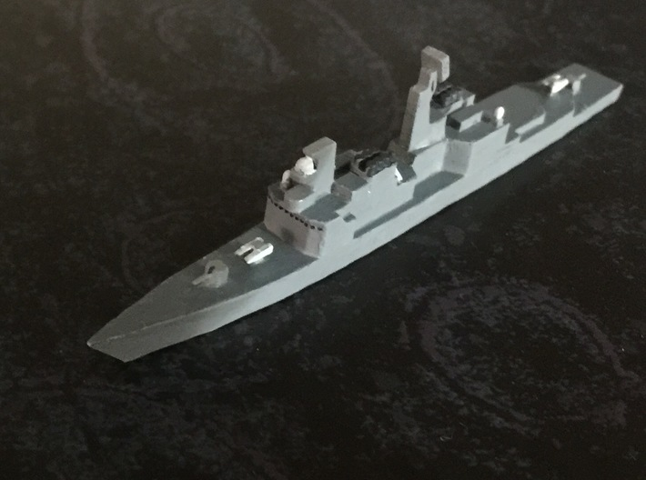 Kidd-class, 1/1800 3d printed Formlabs form 1+ prototype, painted