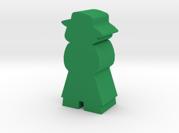 Game Piece Woman With Hat And Trench Coat 3d printed