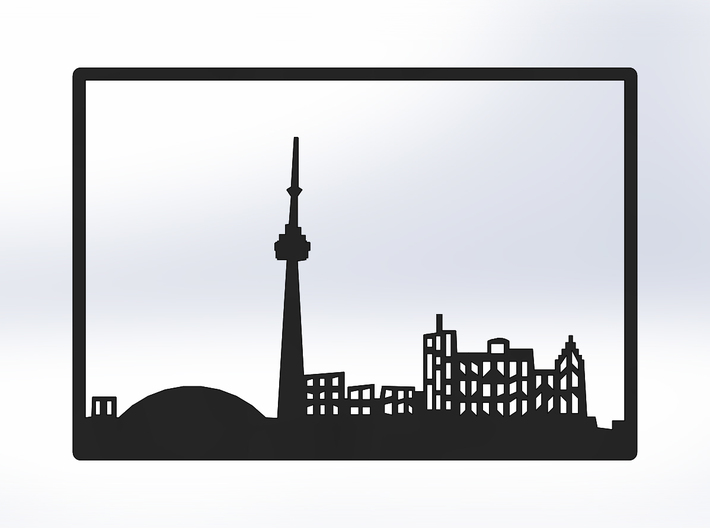 Toronto Skyline - 4 X 5.75 (S) 3d printed Black Front