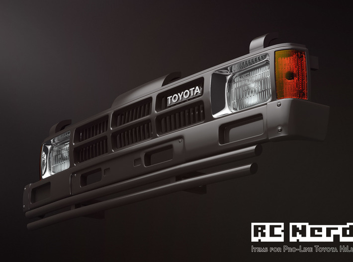 RCN001 Grill for Pro-Line Toyota SR5  3d printed