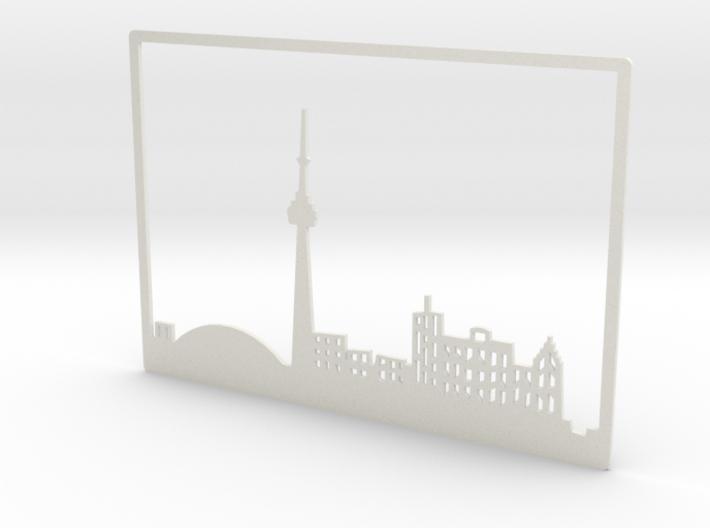 Toronto Skyline - 6 X 8.625 (M) 3d printed