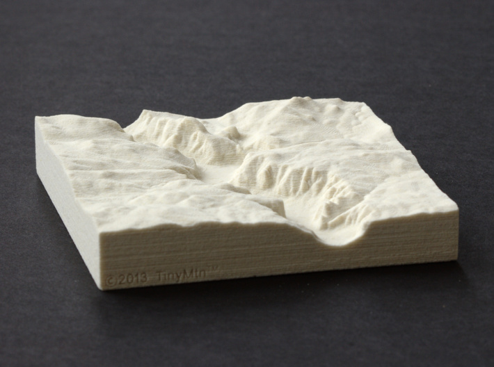 4'' Yosemite Valley, California, USA, Sandstone 3d printed