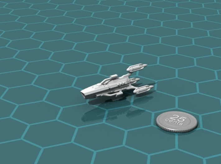 G'jhekk Light Raider 3d printed Render of the model, with a virtual quarter for scale.