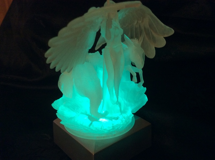 Angel, Elephant and Donkey 3d printed