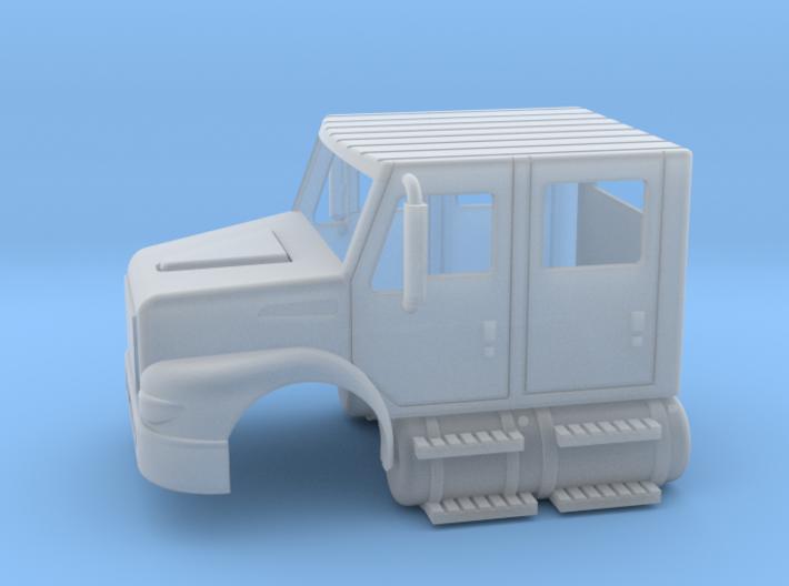 International Day Cab 4 Door W/ Tanks 1-87 HO Scal 3d printed