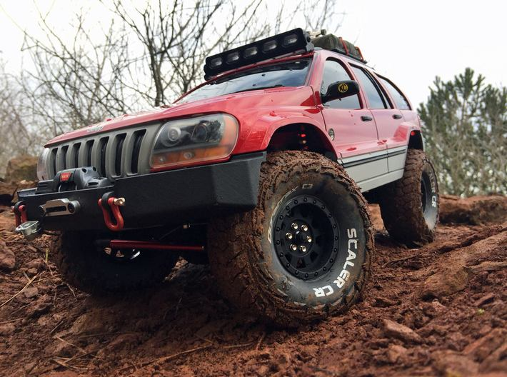 1:10 WJ Grand Cherokee Class 2 Front Bumper 3d printed