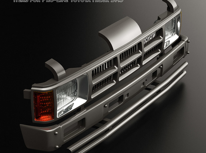 RCN004 Grill with radiator for Pro-Line Toyota SR5 3d printed