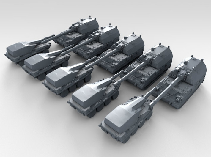1/700 Scale Modern Italian Army Tank Set 1 3d printed 3d render showing product detail
