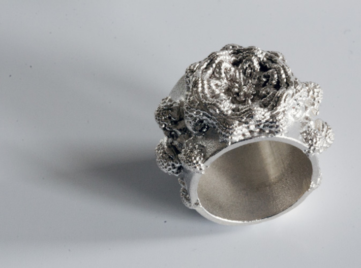 Mandelbulb Ring - Sinus Variation - 18mm 3d printed