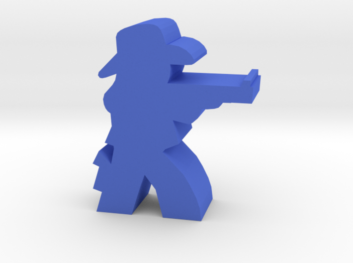 Game Piece, Cowgirl, Aiming Rifle 3d printed