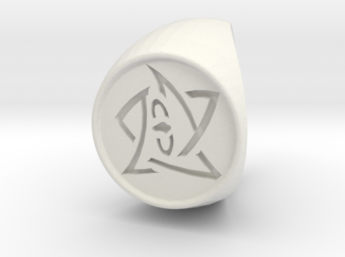 Elder Sign Ring Size 9 3d printed
