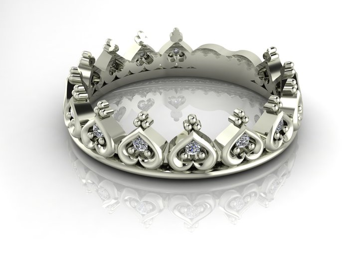 Sizeable Crown Ring no stones 3d printed