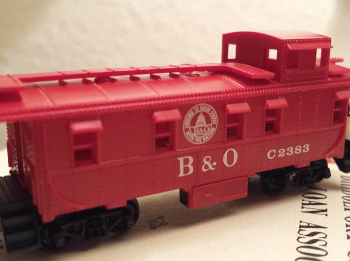 N Scale Caboose Window Shades 3d printed