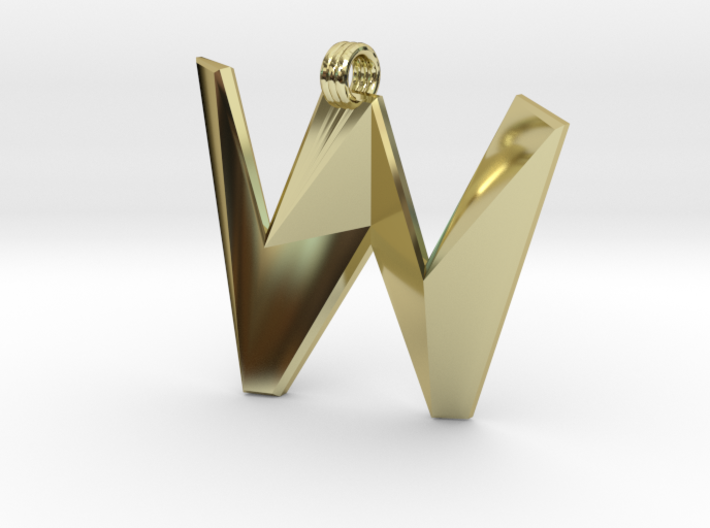 Distorted letter W 3d printed