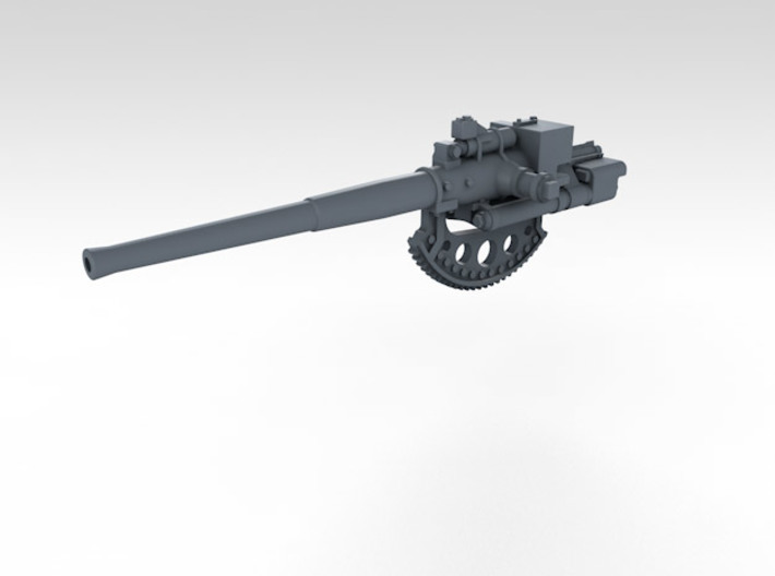 1/350 4.7 Inch /40 (12cm) QF Mark VIII x6 3d printed 3d render showing separate barrel