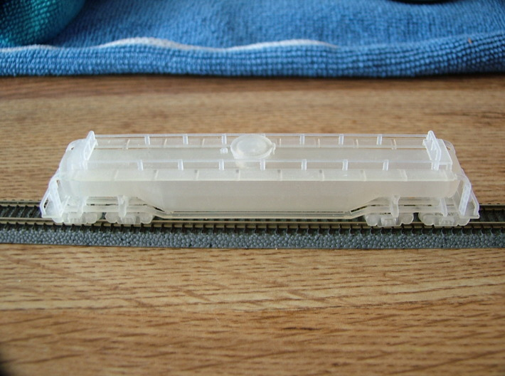 Whale Belly With 4 Trucks  3d printed Whale Belly 75' car Z scale
