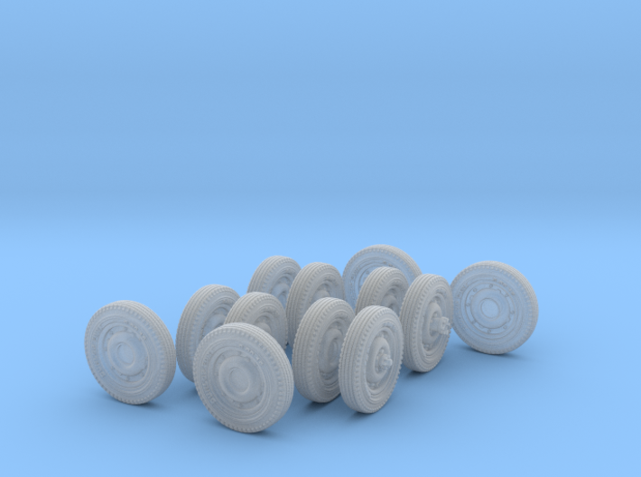 1-72 HW 600x16 Tire Set1 3d printed