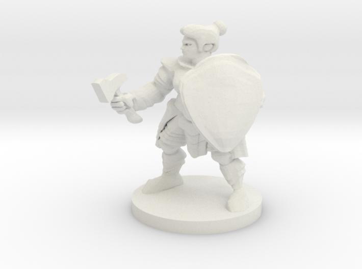 Lady Dwarf Cleric 3d printed