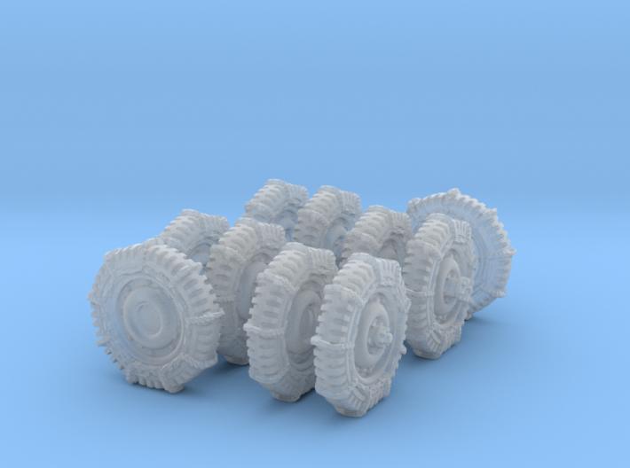1-72 Military 600x16 Tire Snow Chain Set3 3d printed