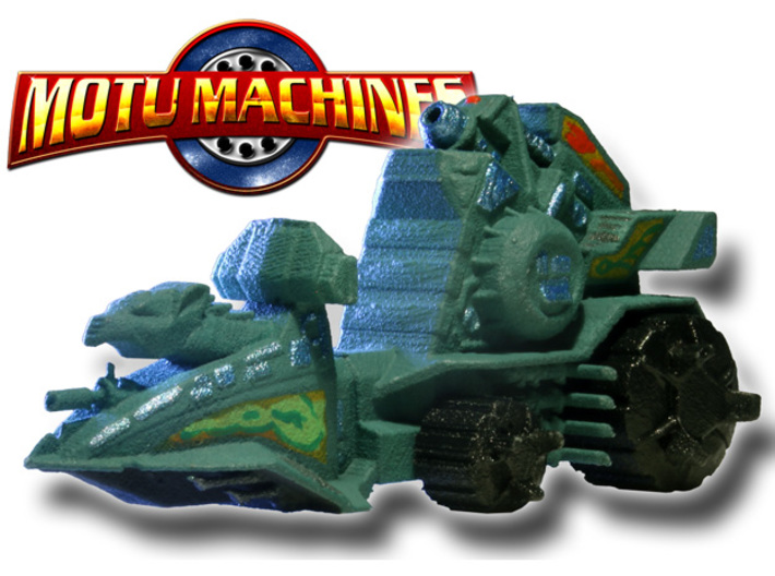 MOTU Machines Series - Battle Ram 3d printed Painted Prototype printed in White Strong Flexible and Polished