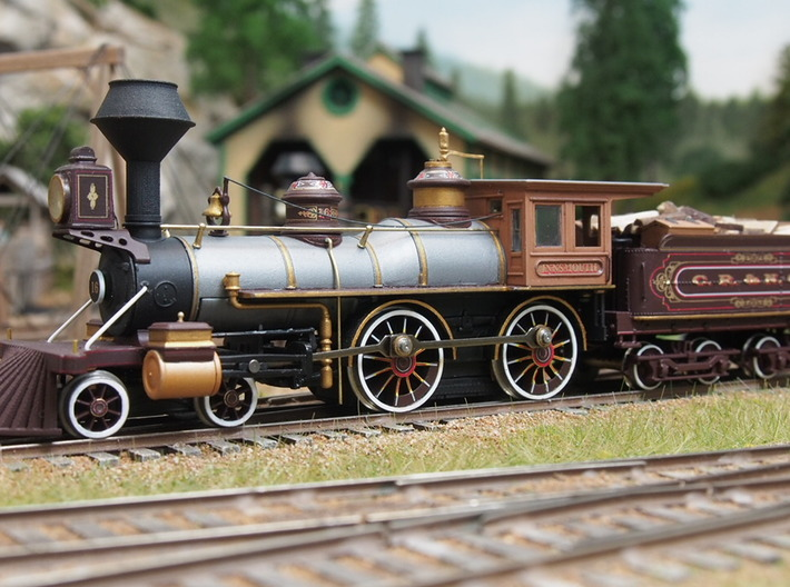 HO scale old time locomotive detail variety pack 2 3d printed