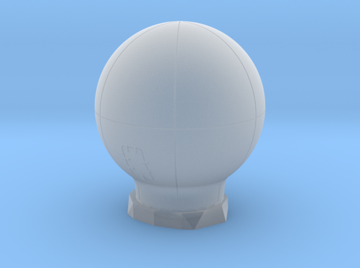 Large Satellite Dome 1/72 3d printed