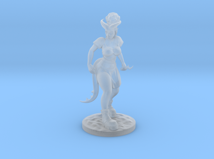 Dnd Tiefling Miniature 3d printed