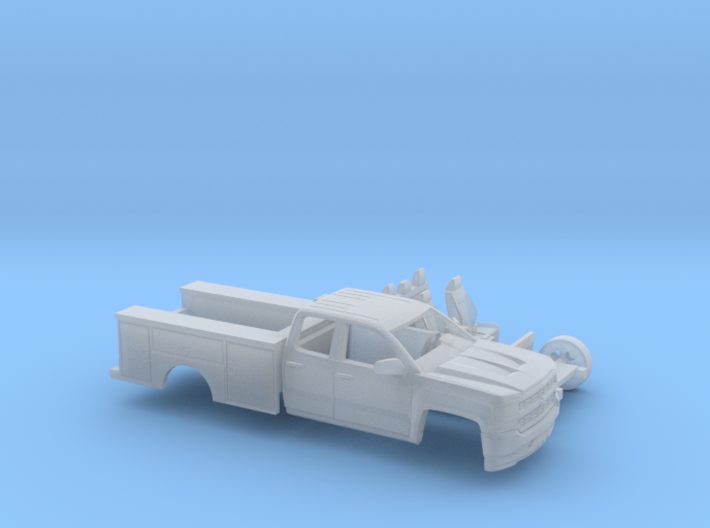 1/87 2016/17 Chevrolet Silverado EXT./ Utility Kit 3d printed