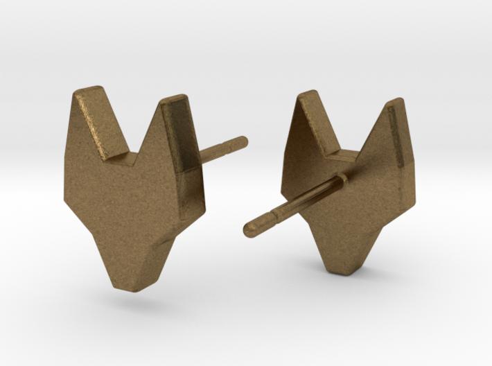 FOX Stud Earrings 3d printed